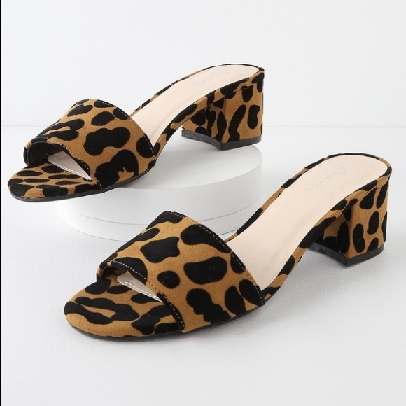 112707f81280 Lulu s Shoes - Lulus Qupid Leopard Block geek slide